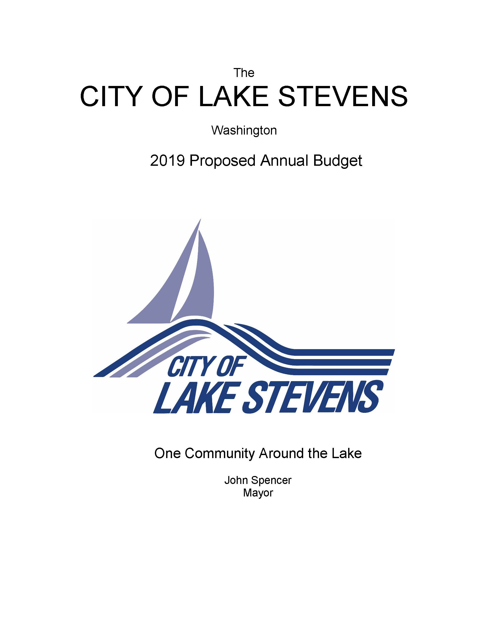 2019 Proposed Budget Cover