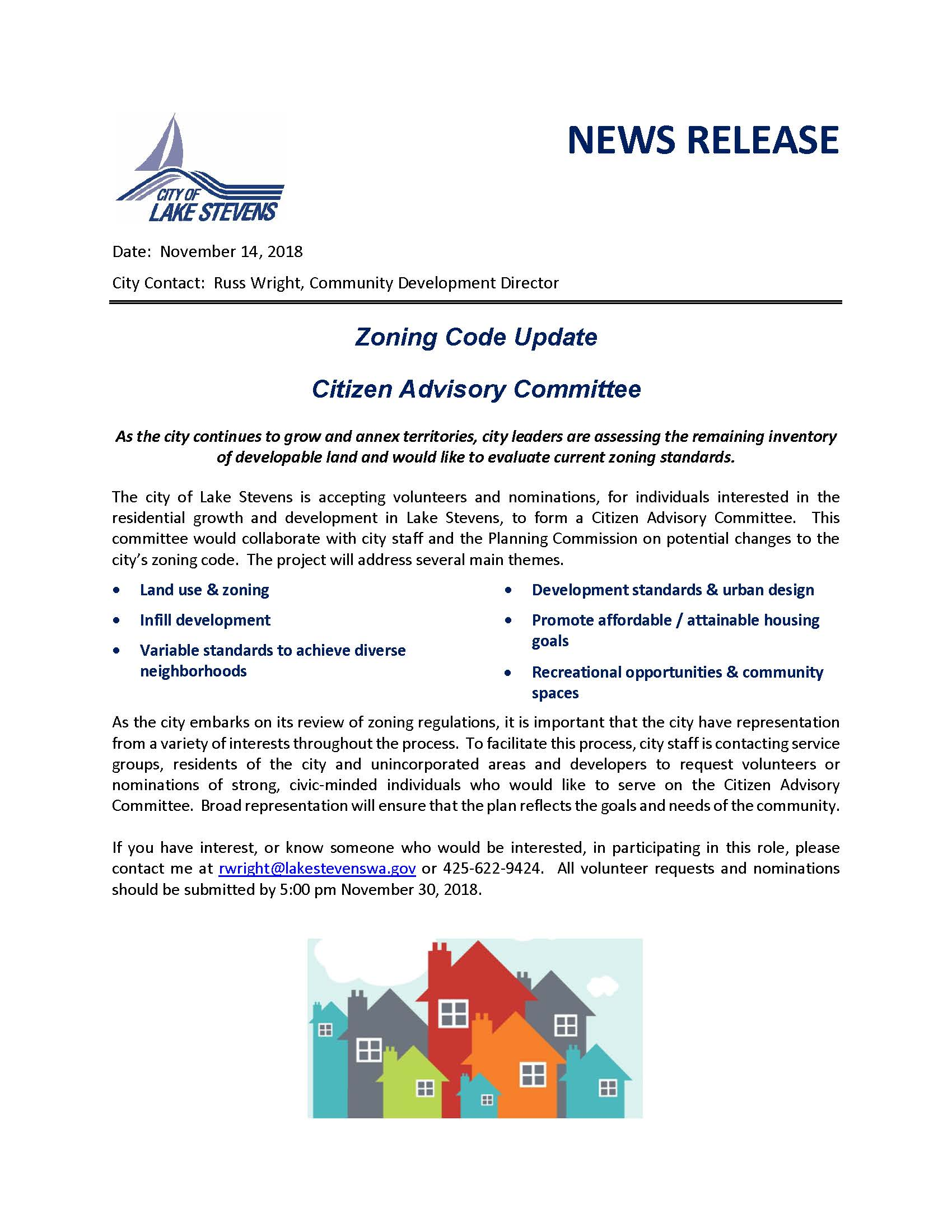 News Release - Land Use Committee