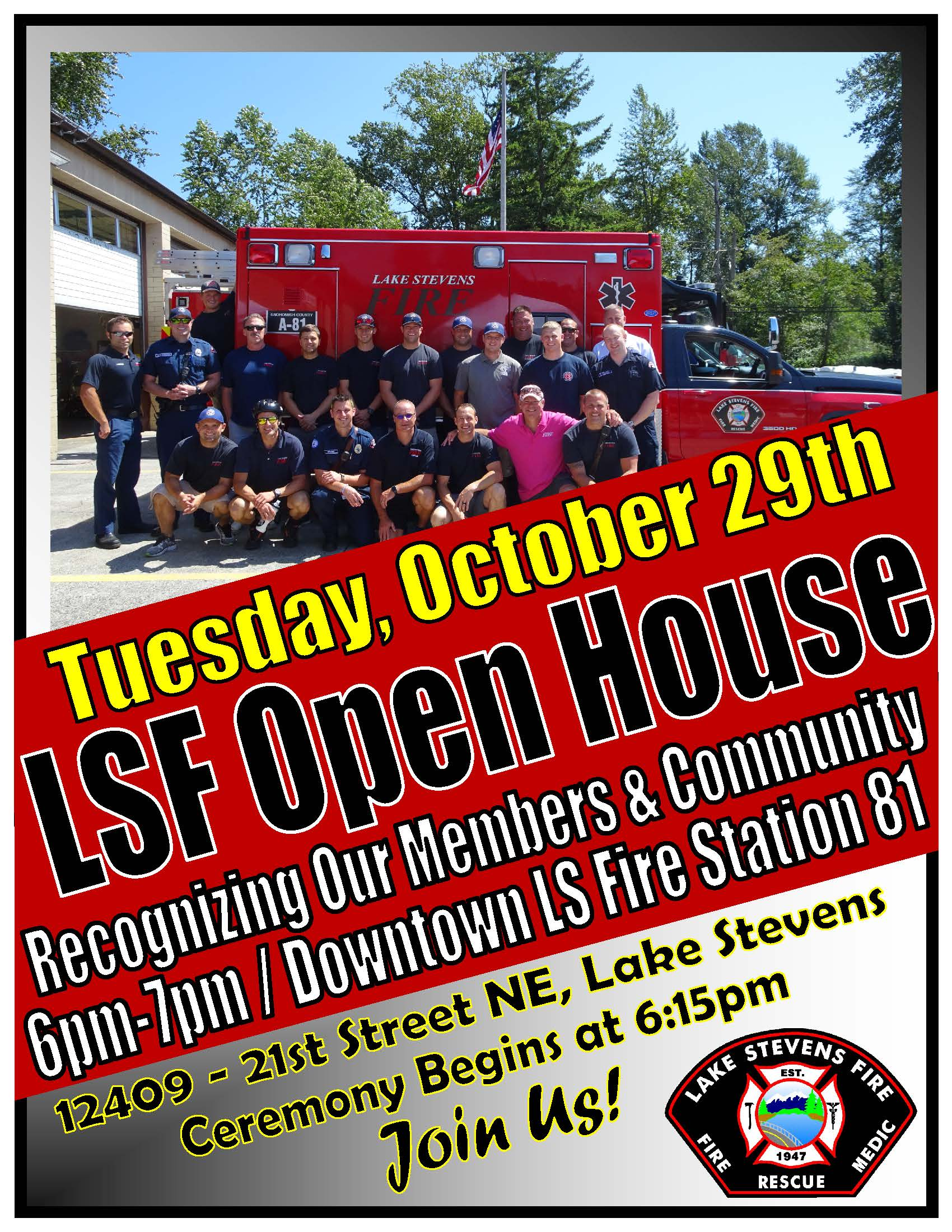 LSF Open House Flyer Invite - Large 8.5x11