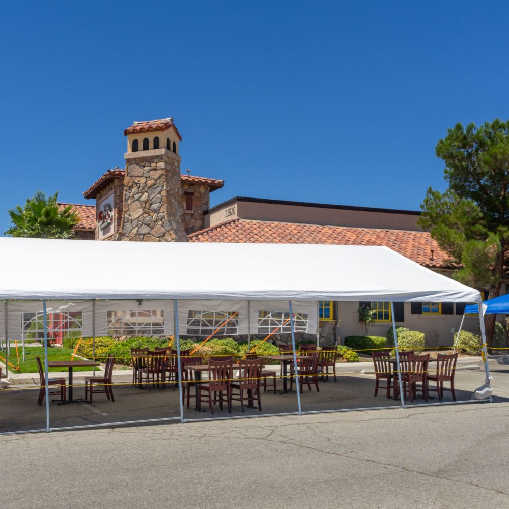 COVID outdoor dining tent