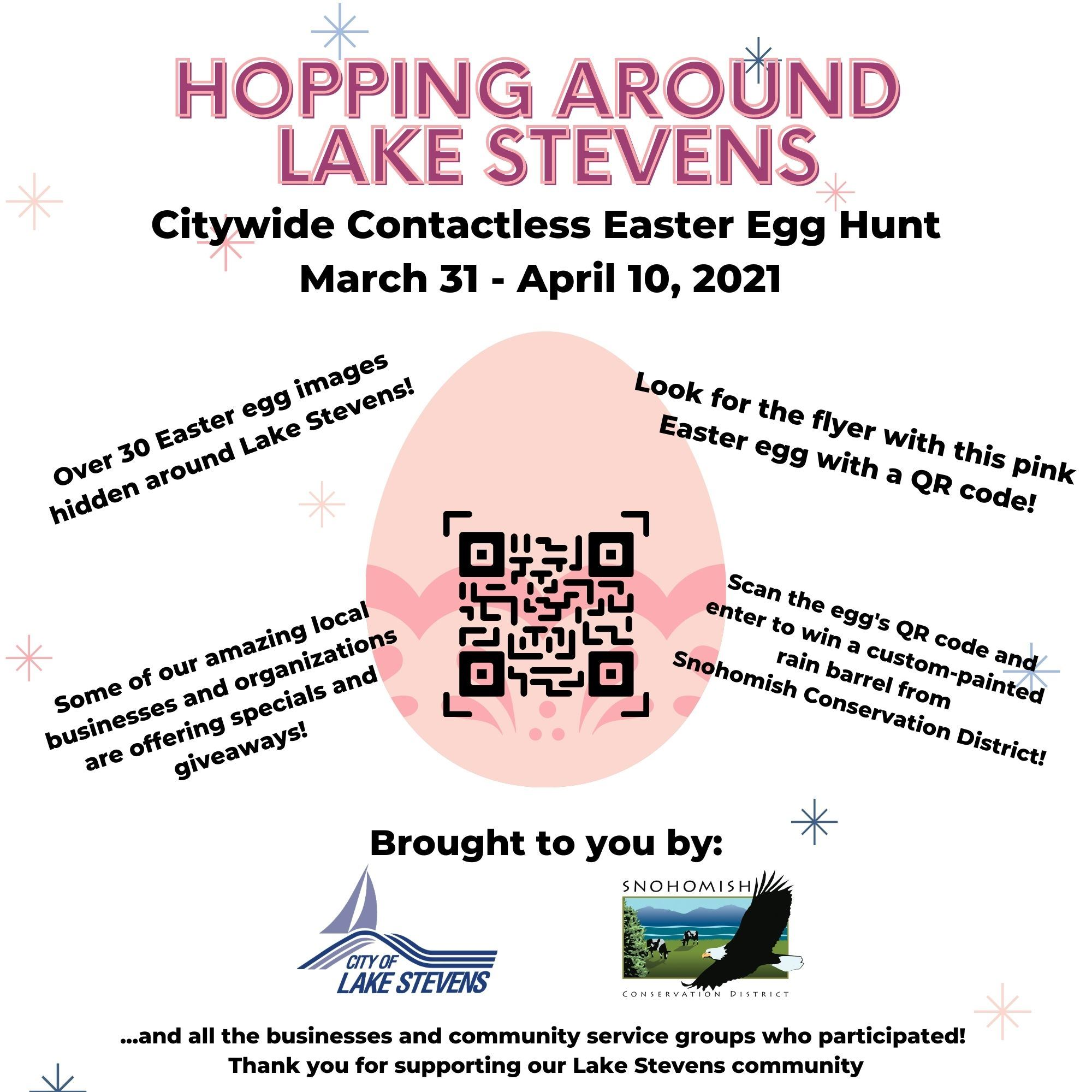 Hopping Around Lake Stevens Easter Egg Hunt graphic